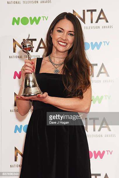 Lacey Turner poses in the winners room at the National Television Awards at The O2 Arena on January 25 2017 in London England
