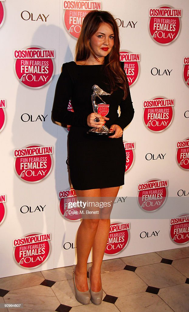 Lacey Turner with the Ultimate TV Actress Award attends the Cosmopolitan Ultimate Women Of The Year Awards, at the Banqueting House on November 11, 2009 in London, England.