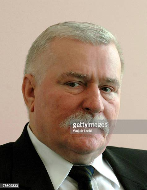 Lach Walesa icon of the Polish Solidarity movement and former President of Poland and laureate of Nobel Peace Prize attends the Super Vector ceremony...