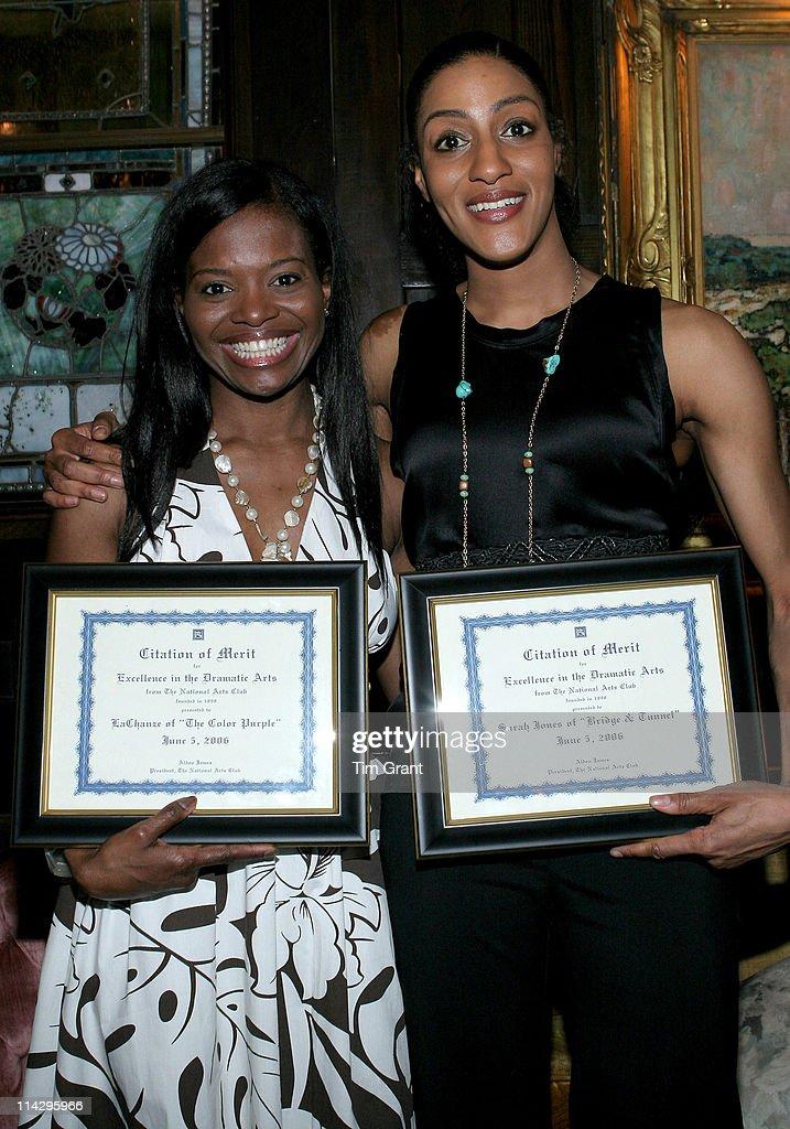 The National Arts Club Honors Lachanze and Tony Winner Sarah Jones : News Photo