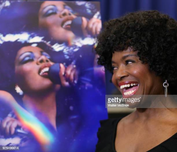 LaChanze attends the press Meet Greet for 'Summer The Donna Summer Musical' on March 8 2018 at the New 42nd Street Studios in New York City