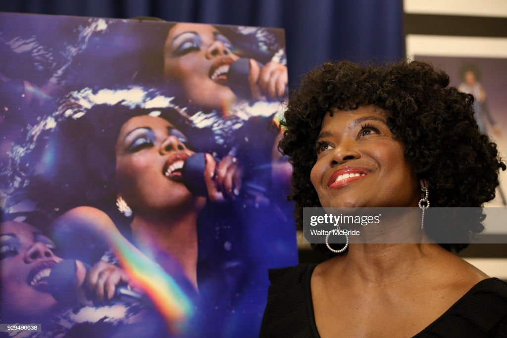 LaChanze attends the press Meet & Greet for 'Summer: The Donna Summer Musical' on March 8, 2018 at the New 42nd Street Studios, in New York City.