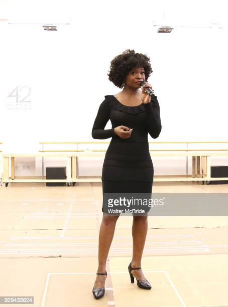 LaChanze during the press presentation for 'Summer The Donna Summer Musical' on March 8 2018 at the New 42nd Street Studios in New York City