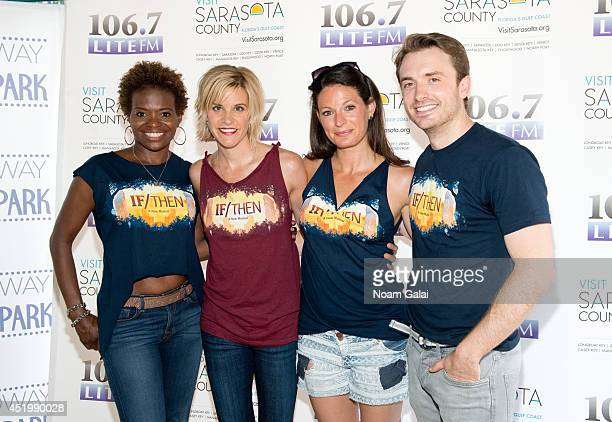 LaChanze Jenn Colella Jackie Burns and James Snyder attend 1067 LITE FM's Broadway In Bryant Park 2014 on July 10 2014 in New York City