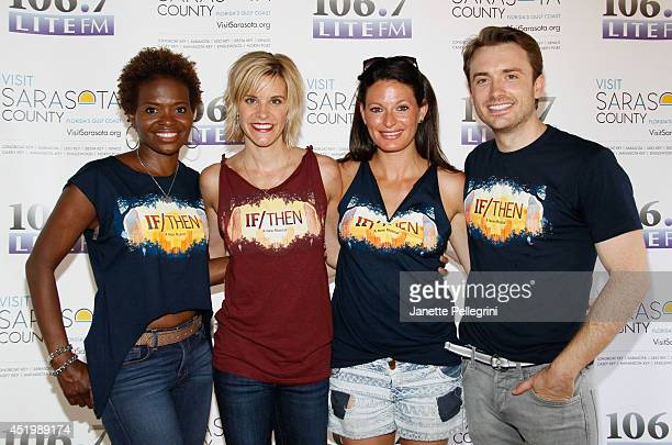 LaChanze Jenn Colella Jackie Burns and James Snyder from the cast of If/Then attend 1067 LITE FM's Broadway in Bryant Park 2014 at Bryant Park on...
