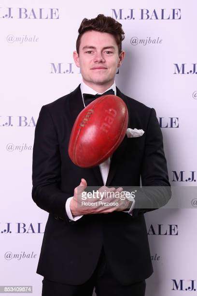 Lachie Neale attends the MJ Bale Brownlow Downlow at Crown Metropole Southbank on September 25 2017 in Melbourne Australia