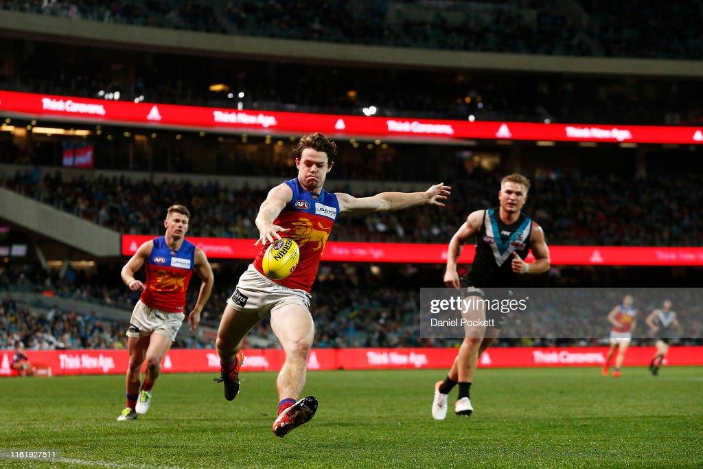 AFL Rd 17 - Port Adelaide v Brisbane : News Photo