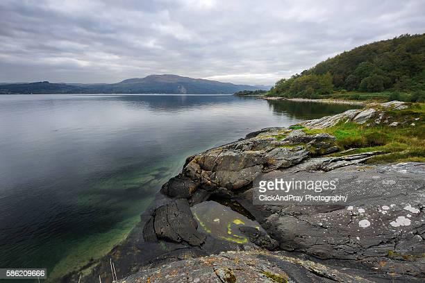 lachlan bay on loch fyne - padrão de losangos - fotografias e filmes do acervo