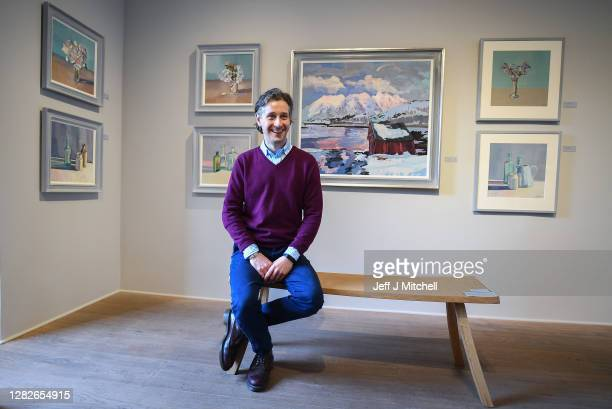 Lachlan Goudie poses for a photograph at his forthcoming exhibition at The Scottish Gallery a new collection of works inspired by places that are or...