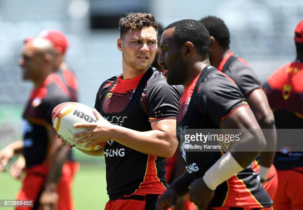 Lachlan Lam during a PNG Kumuls Rugby League World Cup captain's run on November 11 2017 in Port Moresby Papua New Guinea