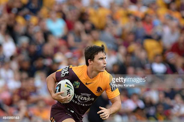 Lachlan Maranta of the Broncos in action during the round 12 NRL match between the Brisbane Broncos and the ManlyWarringah Sea Eagles at Suncorp...