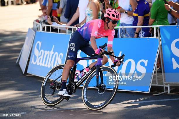 Lachlan Morton of Australia and EF Education First competes during the 2019 Tour Down Under Classic on January 13 2019 in Adelaide Australia
