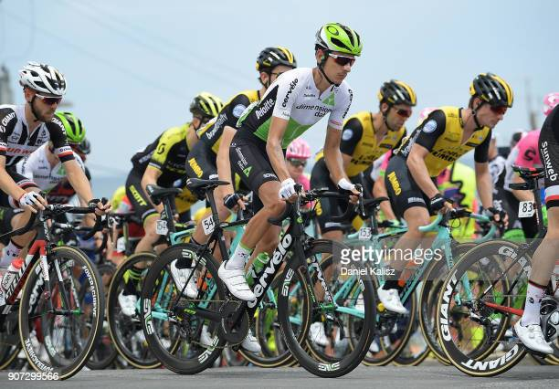 Lachlan Morton of Australia and Team Dimension Data competes during stage five of the 2018 Tour Down Under on January 20 2018 in Adelaide Australia