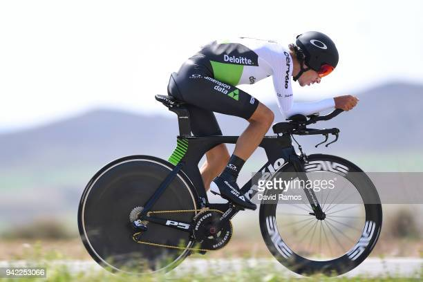 Lachlan Morton of Australia and Team Dimension Data / during the 58th Vuelta Pais Vasco 2018 Stage 4 a 194km individual time trial stage from Lodosa...