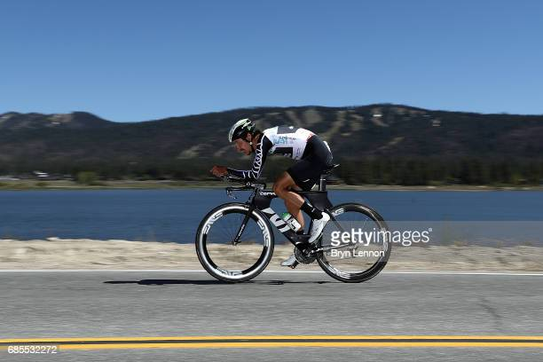 Lachlan Morton of Australia and Team Dimension Data in action during stage 6 of the AMGEN Tour of California, a 14.9 mile individual time trial...