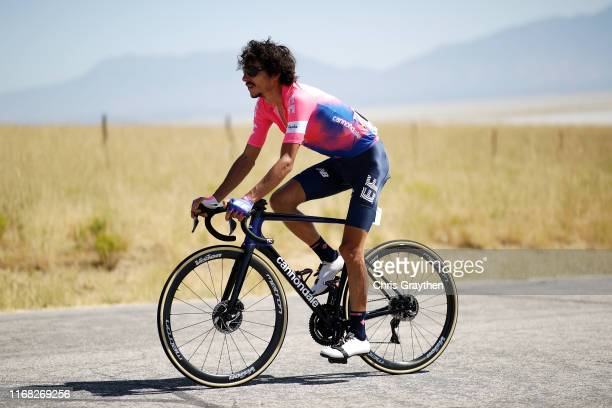 Lachlan Morton of Australia and Team EF Education First / during the 15th Larry H Miller Tour of Utah 2019 Stage 3 a 1382km stage from Antelope...