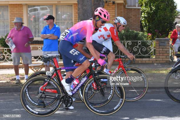 Lachlan Morton of Australia and Team EF Education First Pro Cycling / during the 5th Cadel Evans Great Ocean Road Race Elite Men a 163km race from...