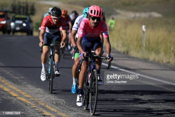 Lachlan Morton of Australia and Team EF Education First / Travis McCabe of The United States and Team Worthy Pro Cycling / during the 15th Larry H...