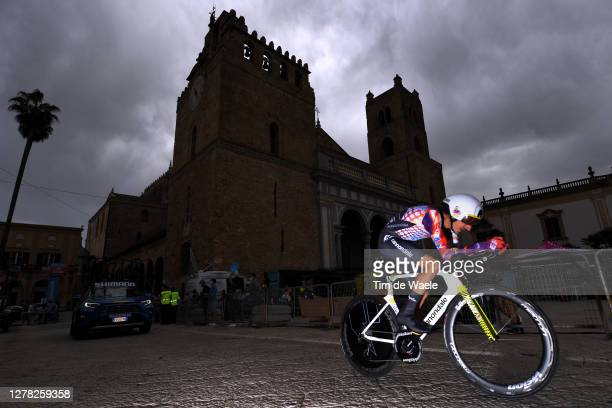 Lachlan Morton of Australia and Team EF Pro Cycling / during the 103rd Giro d'Italia 2020, Stage 1 a 15,1km Individual Time Trial stage from Monreale...