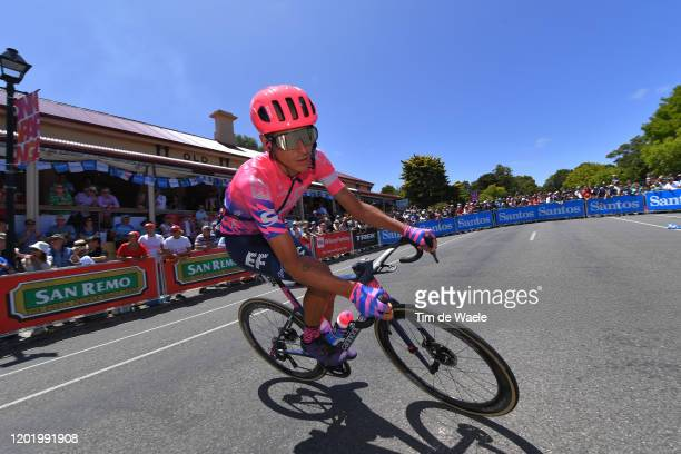 Lachlan Morton of Australia Team EF Pro Cycling / during the 22nd Santos Tour Down Under 2020, Stage 6 a 151,5km stage from McLaren Vale to Willunga...