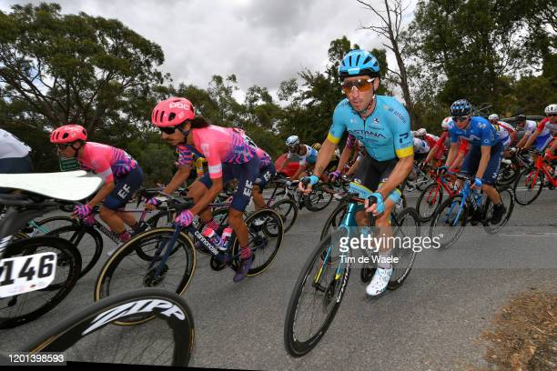 Lachlan Morton of Australia Team EF Pro Cycling / Fabio Felline of Italy and Astana Pro Team / during the 22nd Santos Tour Down Under 2020, Stage 3 a...