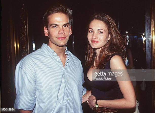 Lachlan Murdoch and Fiona Argyle at the launch of 'Mardi Gras' in February 1996 in Sydney Australia