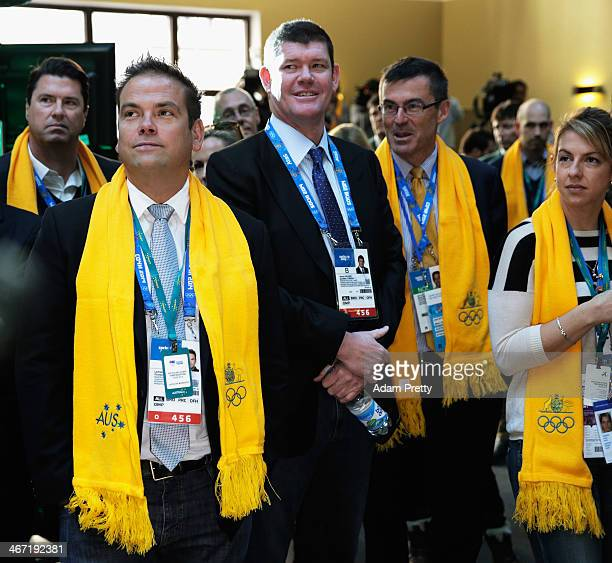 Lachlan Murdoch and James Packer attend the ceremony to announce the Flag Bearer for Australia at the Sochi Olympics Opening Ceremony at the Golden...