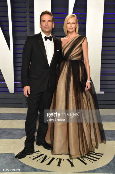 Lachlan Murdoch and Sarah Murdoch attend the 2019 Vanity Fair Oscar Party hosted by Radhika Jones at Wallis Annenberg Center for the Performing Arts...