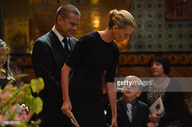 Lachlan Murdoch and Sarah Murdoch attend the Memorial Service for Dame Elisabeth Murdoch at St Pauls Cathederal on December 18 2012 in Melbourne...