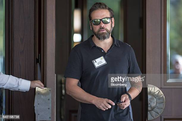 Lachlan Murdoch cochairman of TwentyFirst Century Fox Inc arrives for the Allen Co Media and Technology Conference in Sun Valley Idaho US on Tuesday...