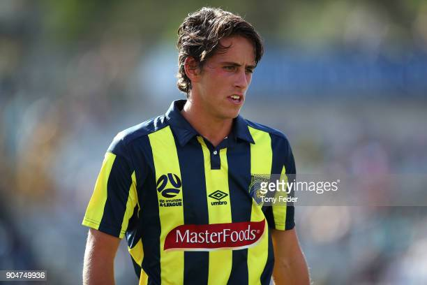 Lachlan Wales of the Mariners during the round 16 ALeague match between the Central Coast Mariners and Melbourne City at Central Coast Stadium on...