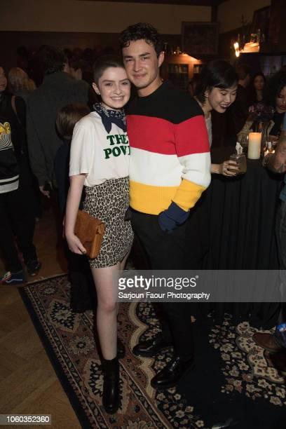 Lachlan Watson and Gavin Leatherwood attend the special preview of Netflix's original series 'Chilling Adventures of Sabrina' at the Spellman House...