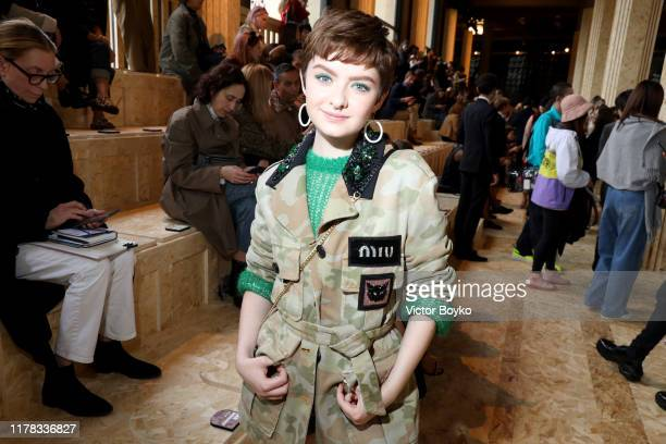 Lachlan Watson attends the Miu Miu Womenswear Spring/Summer 2020 show as part of Paris Fashion Week on October 01 2019 in Paris France