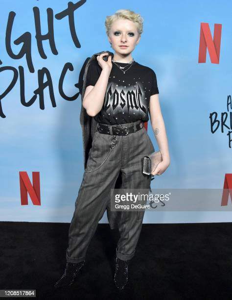 Lachlan Watson attends the Special Screening Of Netflix's All The Bright Places at ArcLight Hollywood on February 24 2020 in Hollywood California
