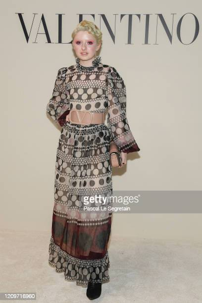 Lachlan Watson attends the Valentino show as part of the Paris Fashion Week Womenswear Fall/Winter 2020/2021 on March 01 2020 in Paris France