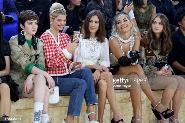 Lachlan Watson Pixie Geldof Alexa Chung Rita Ora and Raffey Cassidy attend the Miu Miu Womenswear Spring/Summer 2020 show as part of Paris Fashion...