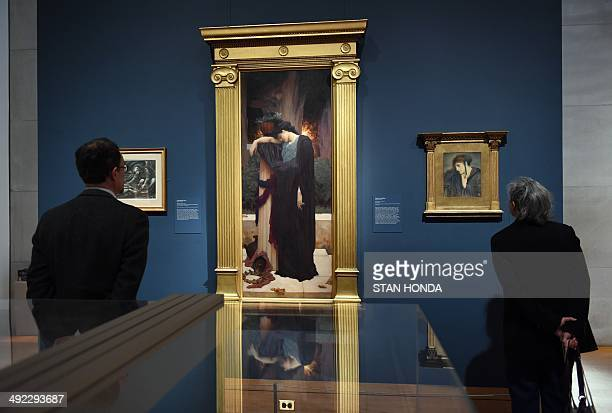 Lachrymae ca 189495 by British artist Frederic Lord Leighton The Entombment 1879 by British artist Sir Edward BurneJones and The Evening Star 1871 by...