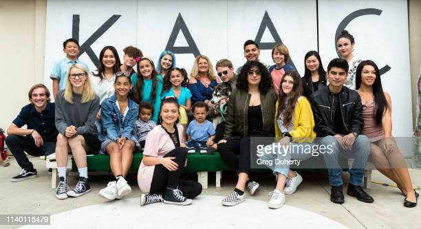 Laci Mercede and Lou Wegner with Luna the Husky attend the Kids Against Animal Cruelty visit to TAP The Artists Project on April 28 2019 in Los...