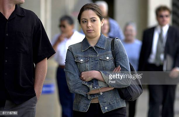 Laci Peterson's sister Amy Rocha leaves the San Mateo County Courthouse July 26 2004 in Redwood City California Scott Peterson is on trial for the...
