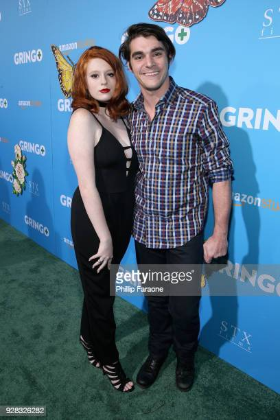 Lacianne Carriere and actor RJ Mitte attend the world premiere of 'Gringo' from Amazon Studios and STX Films at Regal LA Live Stadium 14 on March 6,...