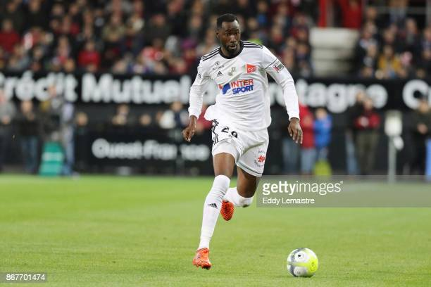 Lacina Traore of Amiens during the Ligue 1 match between EA Guingamp and Amiens SC at Stade du Roudourou on October 28 2017 in Guingamp France