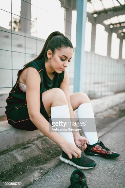 Lacing My Training Sneakers Before Training