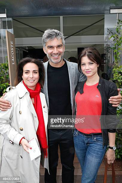 RP Lacoste Audrey Zeitoun actor Francois Vincentelli and his companion actress Alice Dufour attend the Roland Garros French Tennis Open 2014 Day 5 on...