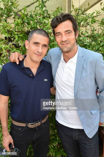 Lacoste Fashion Designer Felipe Oliveira Baptista and Lacoste CEO Thierry Guibert attend the 2017 French Tennis Open Day Five at Roland Garros on...