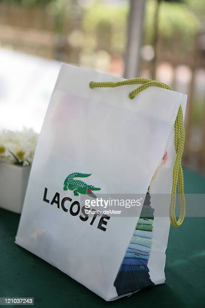 Lacoste gift bag during Lacoste on Campus - University of Florida at University of Florida in Gainesville, Florida, United States.