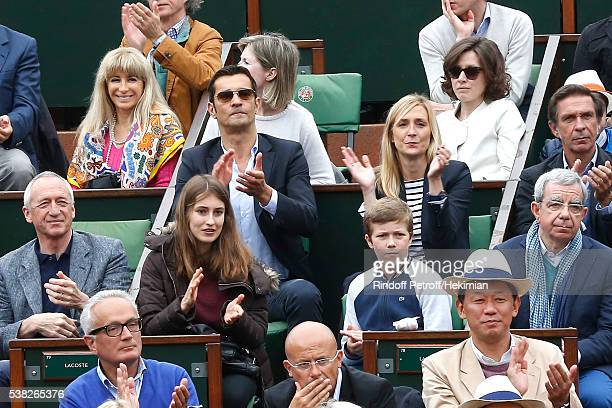 Lacoste Thierry Guibert and family attend Day Fifteen Men single's Final of the 2016 French Tennis Open at Roland Garros on June 5 2016 in Paris...