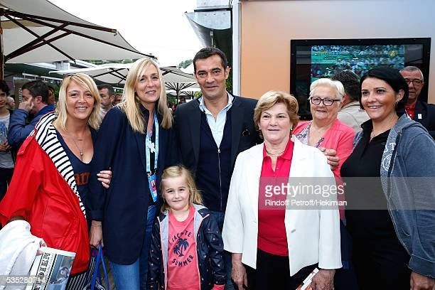 Lacoste Thierry Guibert and family attend Day Height of the 2016 French Tennis Open at Roland Garros on May 29 2016 in Paris France