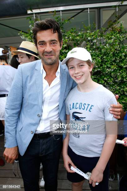 Lacoste Thierry Guibert and his son attend the 2017 French Tennis Open Day Six at Roland Garros at Roland Garros on June 2 2017 in Paris France