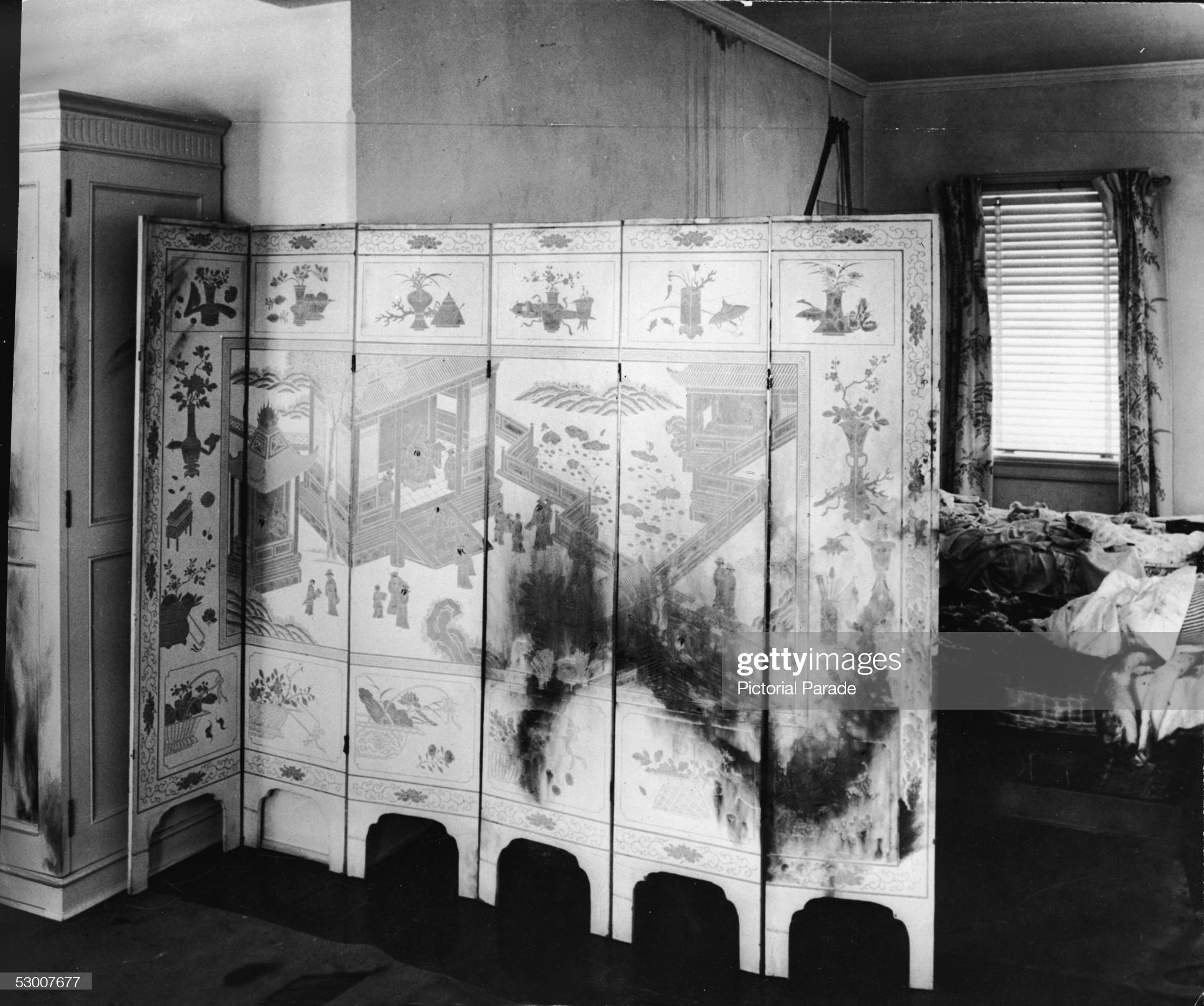Chinese Screen At Sir Harry Oakes Murder Site : News Photo