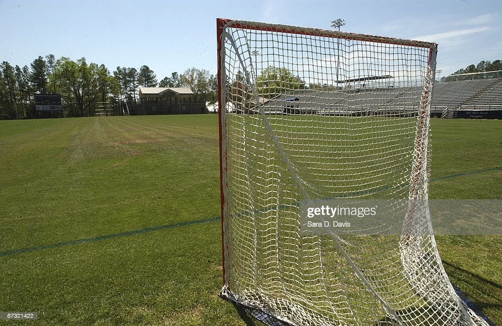 A lacross net sits on the field at Duke University's Koskinen Stadium April 11, 2006 in Durham, North Carolina. The investigation into the Duke lacrosse players regarding allegations of a sexual assault of a woman hired as a private dancer March 13 are continuing despite DNA tests having have found no evidence linking the lacrosse players with the alleged rape.